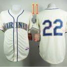 Seattle Mariners Jersey Robinson Cano #22 Cream Baseball Jersey Best Jersey Sox