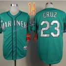 Seattle Mariners Jersey  Nelson Cruz #23 Green Baseball Jersey Best Jersey Sox