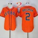 houston astros #2 alex bregman Orange 2016 Baseball Jerseys Authentic Stitched