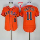 houston astros #11 Evan Gattis Orange 2016 Baseball Jerseys Authentic Stitched