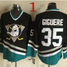 Anaheim Mighty Ducks #35 Jean-Sebastien Giguere 2015 Ice Winter Jersey Black Authentic Stitched
