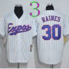 Montreal Expos Baseball Jerseys 2016 Retro 30 Tim Raines Jersey Throwback Home Road Away White