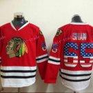 Chicago Blackhawks Jerseys #65 Andrew Shaw Mens Red USA Flag Stitched Hockey Jersey