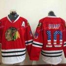 Chicago Blackhawks Jerseys 10 Patrick Sharp Red USA Flag Stitched Hockey Jersey