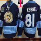 Stitched Pittsburgh Penguins #81 Phil Kessel Dark Blue Hockey Jerseys Ice Jersey