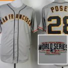 san #28 buster posey 2015 Baseball Jersey Grey Authentic Stitched