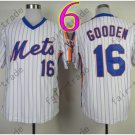 Baseball Jerseys New York Mets Jerseys 16# Dwight Gooden Jersey White Style 2