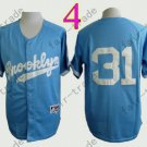 LA Dodgers 31# Joc Pederson Jersey Blue Cool Base