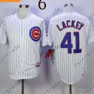 Chicago Cubs 41 John Lackey White 2015 Baseball Jersey Authentic Stitched