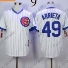 Chicago Cubs 49 Jake Arrieta White 2015 Baseball Jersey Authentic Stitched