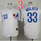 Montreal Expos Jersey #33 Larry Walker White Throwback Stitched
