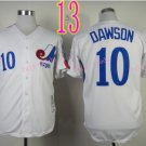 Montreal Expos Jersey 10 Andre Dawson WHite Throwback Stitched Jerseys