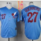 Montreal Expos Jersey #27 Vladimir Guerrero  Blue Throwback Stitched Jerseys