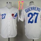 Montreal Expos Jersey #27 Vladimir Guerrero White Throwback Stitched Jerseys