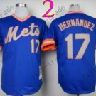 New York Mets Jerseys 17# Keith Hernandez Jersey Blue  Throwback