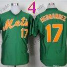 New York Mets Jerseys 17# Keith Hernandez Jersey Green Throwback