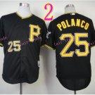 Sports Jerseys Pittsburgh Pirates 25 Polanco Black  Baseball Jerseys