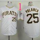 Sports Jerseys Pittsburgh Pirates 25 Polanco White Baseball Jerseys Style 1