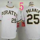 Sports Jerseys Pittsburgh Pirates 25 Polanco White Baseball Jerseys Style 2