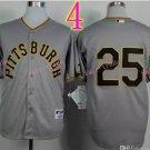 Sports Jerseys Pittsburgh Pirates 25 Polanco Grey Baseball Jerseys Style 2