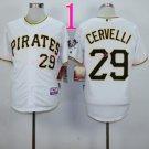 2015 Pittsburgh Pirates 29 Francisco Cervelli Jersey White Cool Base Shirt Stitched Baseball Jersey