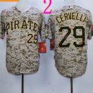 2015 Pittsburgh Pirates 29 Francisco Cervelli Jersey Camo Cool Base Shirt Stitched Baseball Jersey