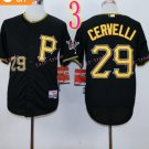 2015 Pittsburgh Pirates 29 Francisco Cervelli Jersey Black Cool Base Shirt Stitched Baseball Jersey