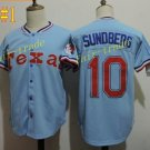 Texas Rangers #10 Jim Sundberg 2016 Baseball Jersey Rugby Jerseys Authentic Stitched