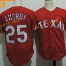 Texas Rangers #25 Jonathan Lucroy 2016 Baseball Jersey Rugby Jerseys Authentic Stitched