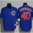 Chicago Cubs #40 Willson Contreras Blue Stitched Jersey