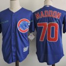 Chicago Cubs #70 Joe Maddon Blue  Stitched Jersey