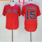 boston red sox #15 dustin pedroia Red 2016  Baseball Jersey Cheap Rugby Jerseys