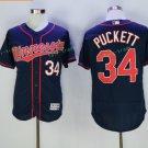 2017 Flexbase Stitched Minnesota Twins 34 Kirby Puckett Black Jerseys Home Road Flex base Jersey