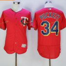 2017 Flexbase Stitched Minnesota Twins 34 Kirby Puckett Red Jerseys Home Road Flex base Jersey