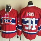 Men's Montreal Canadiens Jerseys #31 Carey Price Jersey Home Red Stitched Ice Hockey Jerseys