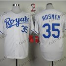 2015 World Series Kansas City Royals 35 Eric Hosmer Baseball White Jerseys Authentic Stitched