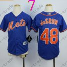 New York Mets Youth Jersey 48 Jacob deGrom Blue Kids
