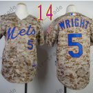 New York Mets Youth Jersey #5 David Wright Camo Kids