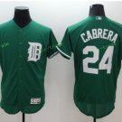 2017 Flexbase Stitched Detroit Tigers 24 Miguel Cabrera Green Baseball Jerseys
