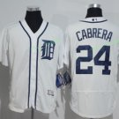 2017 Flexbase Stitched Detroit Tigers 24 Miguel Cabrera White Baseball Jerseys Style 2