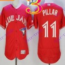 2016 Majestic Official Cool Base Stitched 40th Season Toronto Blue Jays #11 Kevin Pillar Red