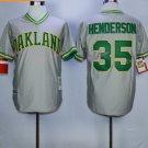 Rickey Henderson Jersey 35#, 1979 Cooperstown Oakland Athletics Jerseys Grey