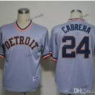 detroit tigers #24 miguel cabrera 2015 Baseball Jersey Grey Rugby Jerseys Authentic Stitched