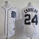 detroit tigers #24 miguel cabrera 2015 Baseball White Jerseys Authentic Stitched Style 2