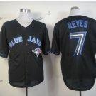 toronto blue jays #7 jose reyes 2016 Baseball Jersey Black Rugby Jerseys Authentic Stitched