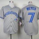 toronto blue jays #7 jose reyes 2016 Baseball Jersey Grey Rugby Jerseys Authentic Stitched