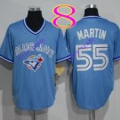 toronto blue jays #55 Russell Martin light blue 2016 Baseball Jersey  Rugby Jerseys