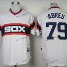 chicago white sox #79 jose abreu 2015 Baseball White Jerseys Authentic Stitched Style 2