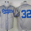 los angeles dodgers #32 sandy koufax 2015 Baseball Grey Jerseys Authentic Stitched