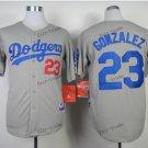 los angeles dodgers #23 adrian gonzalez 2015 Baseball Grey Jerseys Authentic Stitched